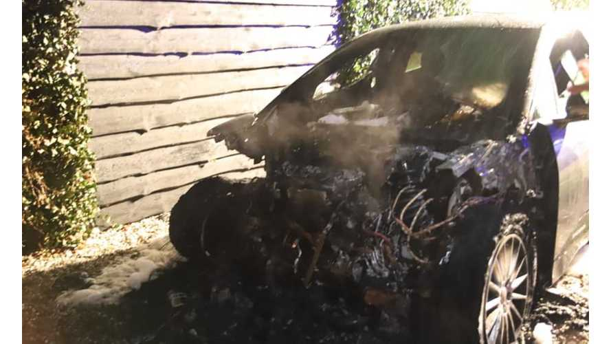 Jaguar I-Pace Looks Toasty After Fire Of Unknown Cause