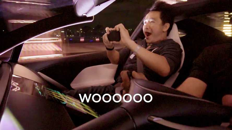 Watch Insane Reactions To Tesla Roadster's Stupidly Quick Acceleration