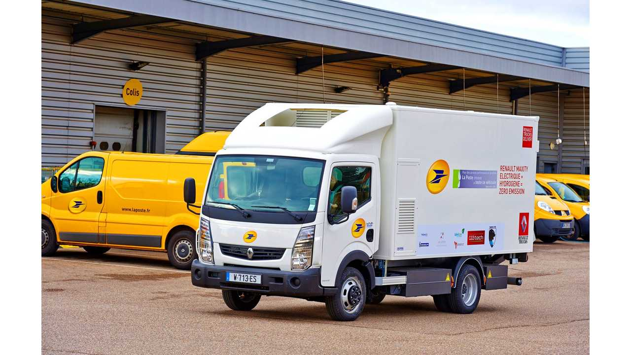 La Poste Tests Renault Electric Truck With Fuel Cell Range Extender