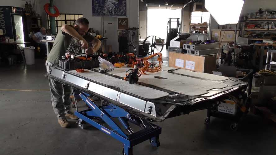 Watch As Tesla Model 3 Battery Is Removed And Disassembled
