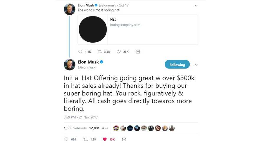Boring Hat Sales Raise Over $300,000