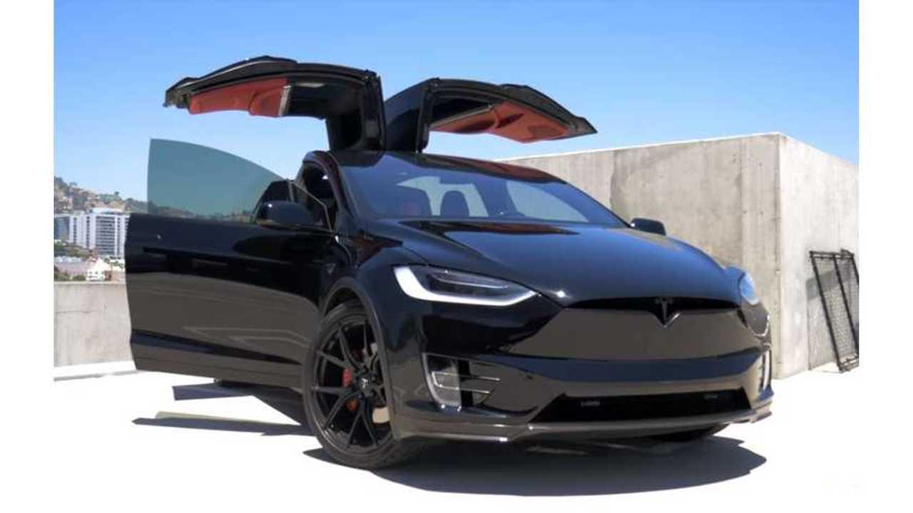 Blacked Out Tesla Model X P100D By T Sportline - Video