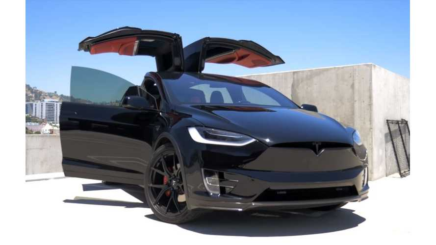 Blacked Out Tesla Model X P100D By T Sportline - Video