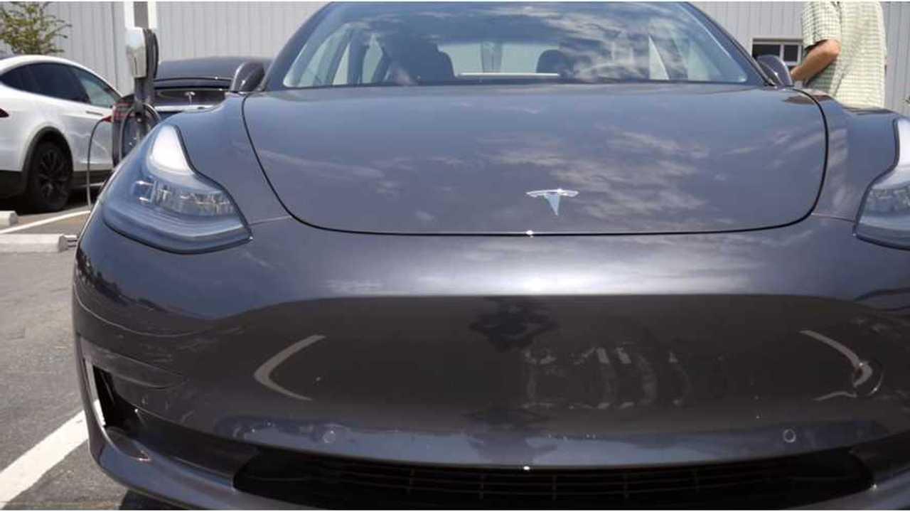 Tesla Model 3 Sighting At Factory In Fremont - Video