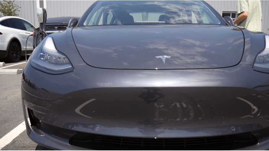 Tesla Model 3 Sighting At Factory In Fremont - Video