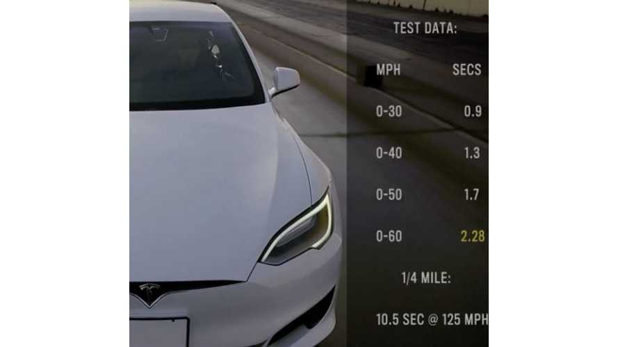 Tesla Model S P100D With Ludicrous + Accelerates From 0 To 60 MPH In 2.28 Seconds