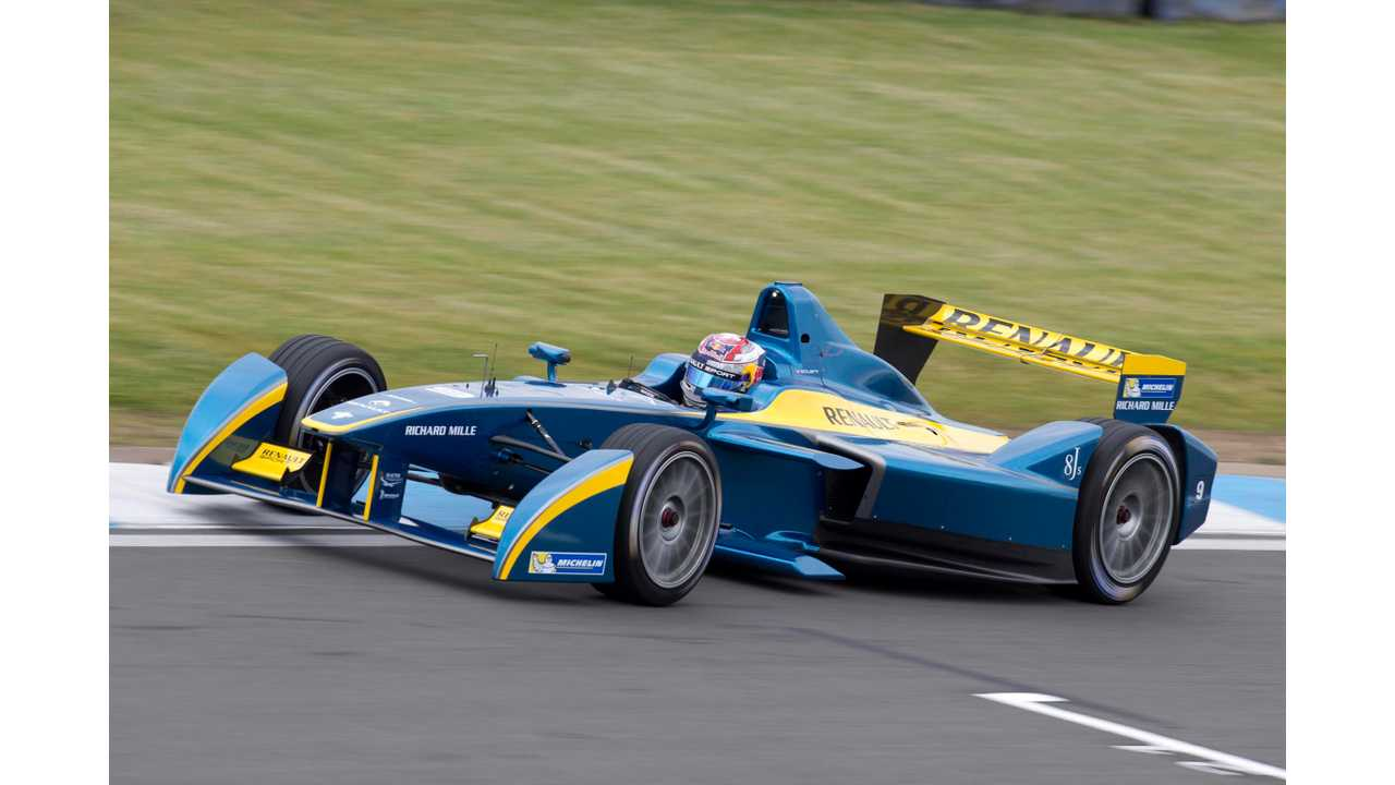 Sebastien Buemi Drives e.dams-Renault To Top Of Formula E In Last Pre-Season Test