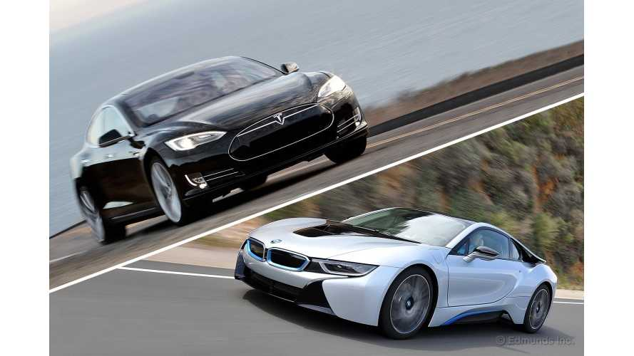 Edmunds - Tesla Model S Versus BMW i8 Comparison