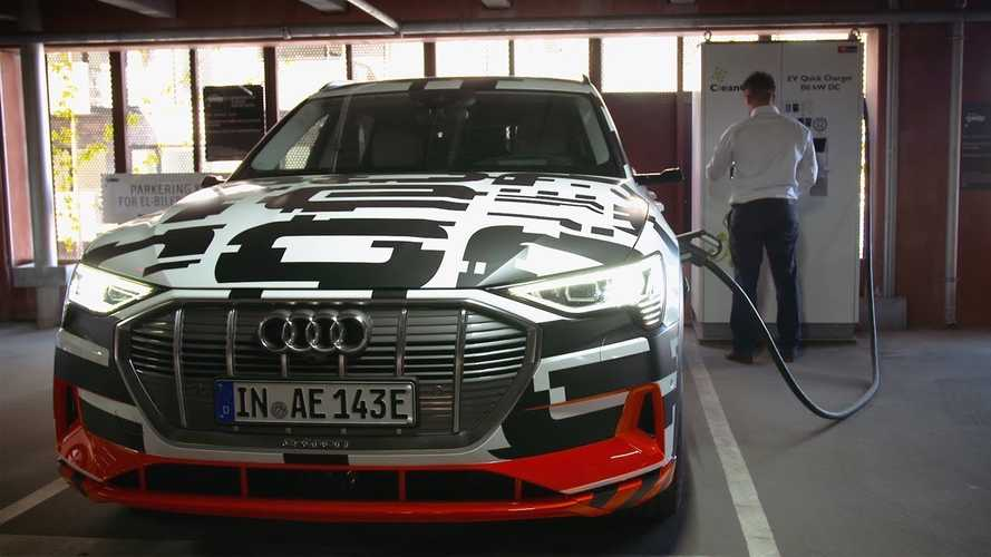 Watch As Audi e-Tron Electric SUV Gets Tested