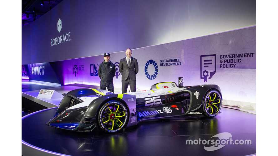 Roborace Robocar Gets Revealed - World's First Autonomous Electric Race Car