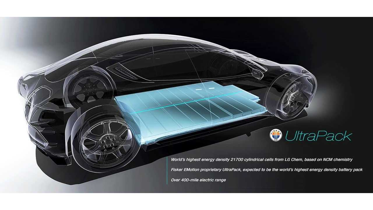 Fisker EMotion UltraPack To Use 21700 Cells From LG Chem