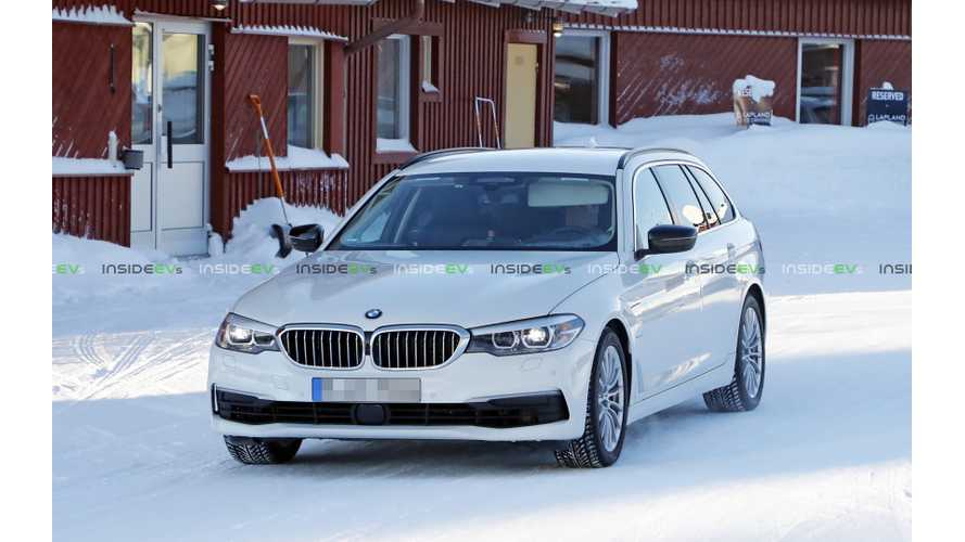 BMW 530e Touring Wagon Plug-In Hybrid Spied