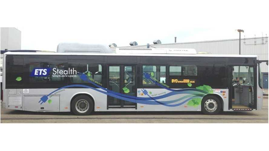 Edmonton Transit System Begins Tests Of Two BYD Electric Buses (w/video)