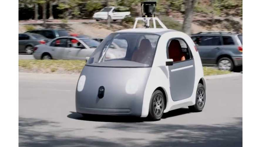 Google Reveals Electric Self-Driving Car - Video