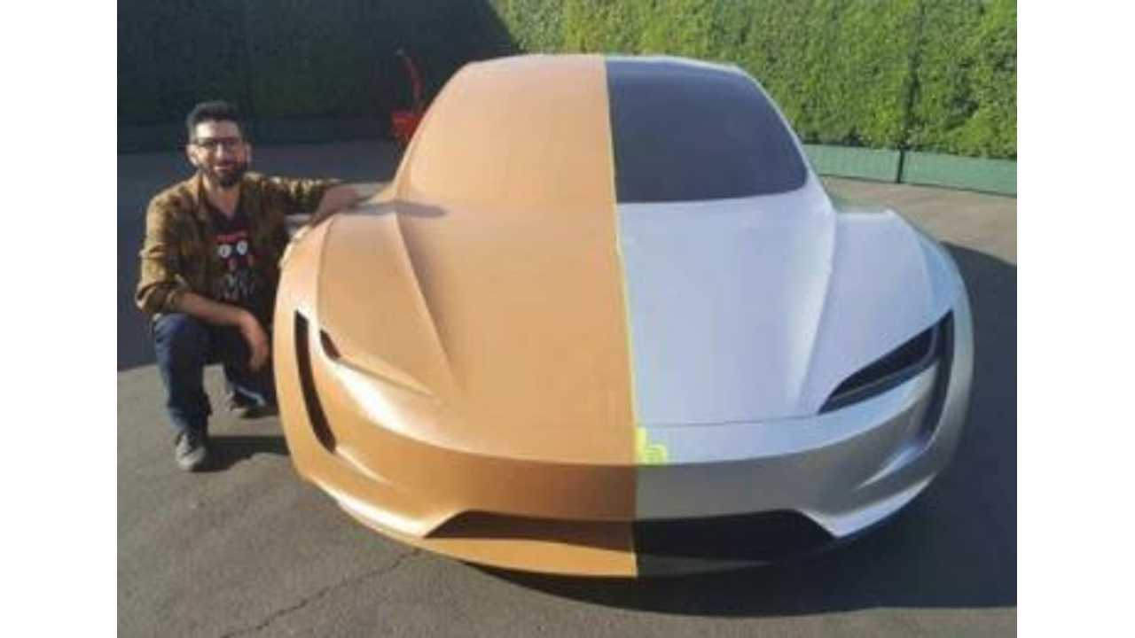 New Tesla Roadster Design Sketches, Clay Model Images Surface