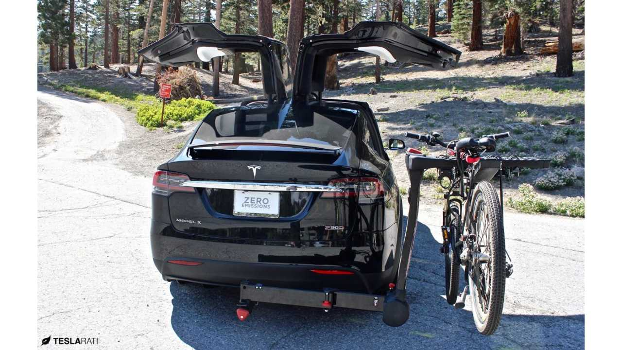 This Might Be The Perfect Tesla Model X Bike Rack