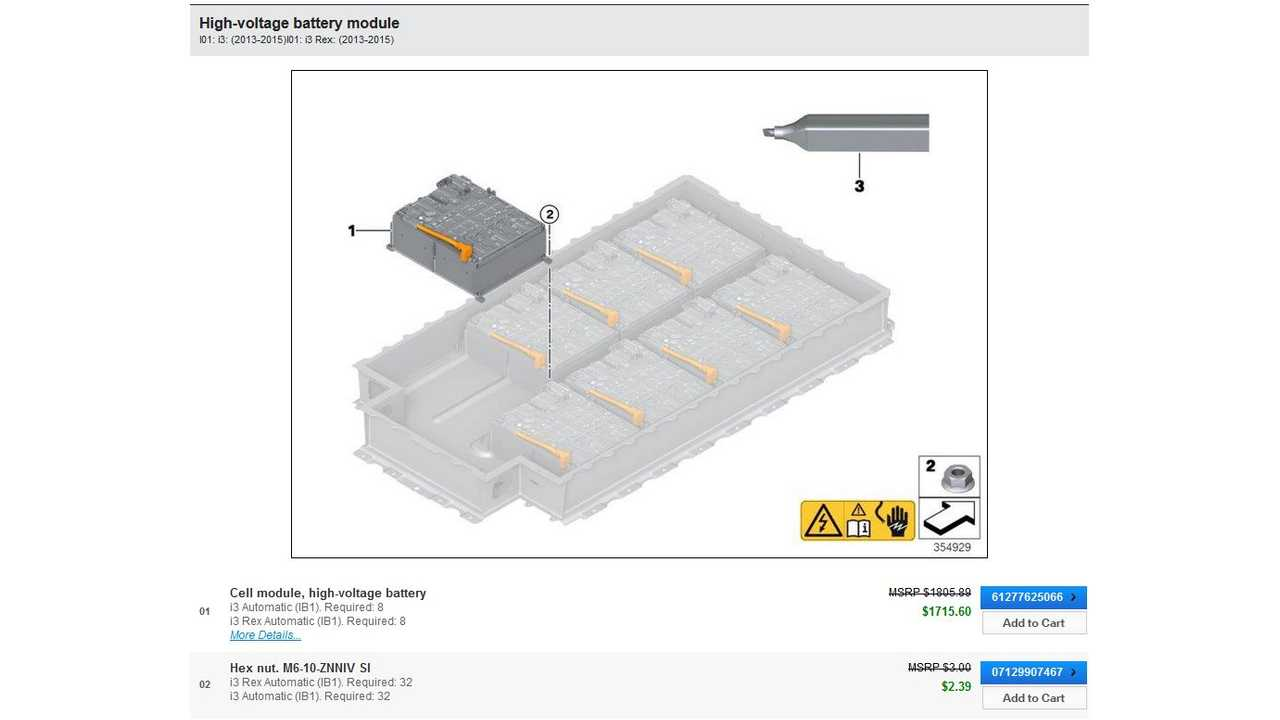 BMW i3 Battery Module Cost