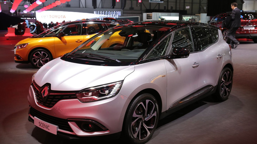 Renault Scenic sits on standard 20-inch wheels in Geneva