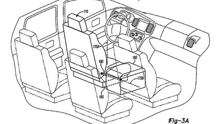 Ford patents autonomous vehicle interior with reconfigurable seats