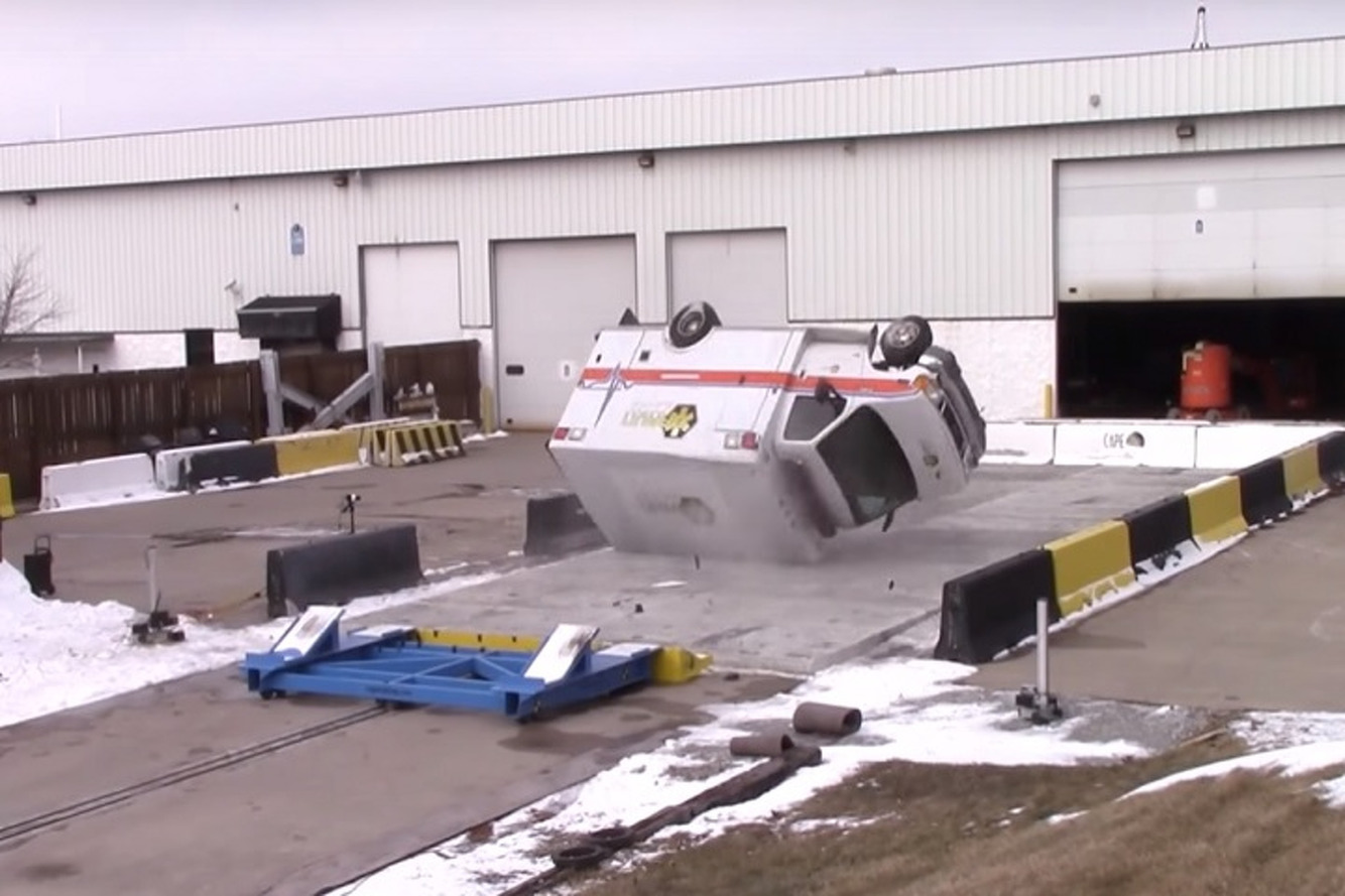 Watch This Wild Ambulance Rollover Test