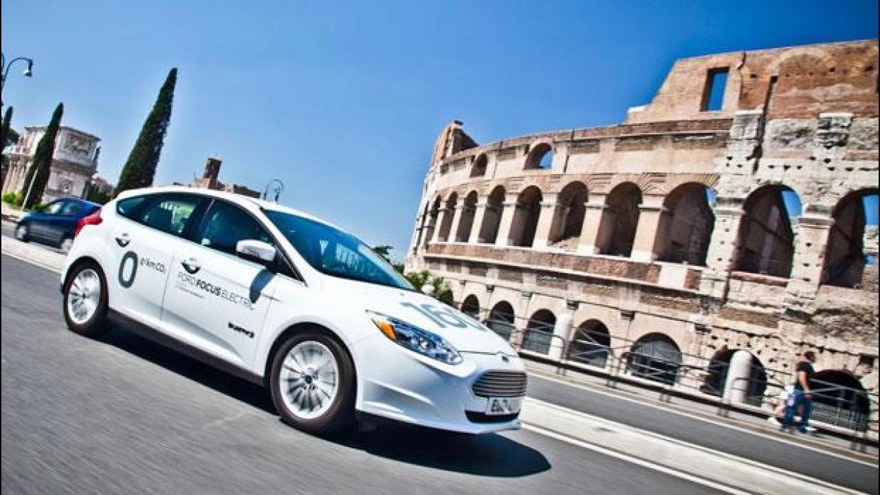 [Copertina] - Ford Focus elettrica, zero emissioni al Colosseo