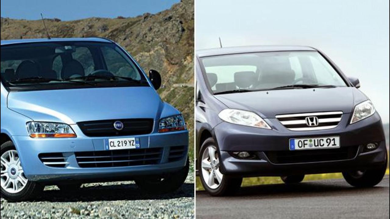 [Copertina] - Monovolume usata: Fiat Multipla o Honda FR-V?