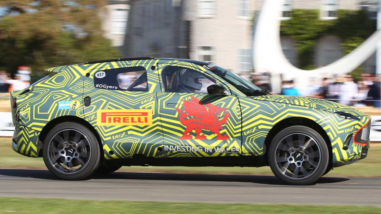 Aston Martin DBX at the 2019 Goodwood Festival of Speed
