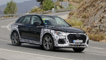 audi q5 facelift spied first