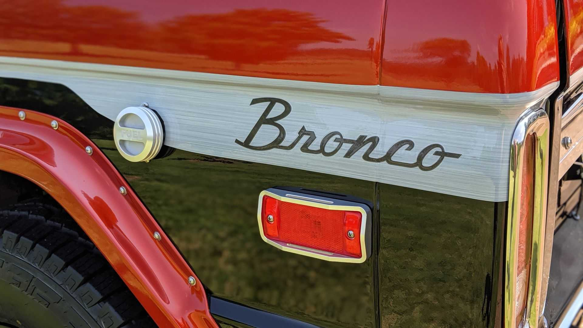 "[""Customized 1970 Ford Bronco Selling At No Reserve""]"