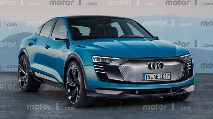 Audi E-Tron Sportback rendered as stylish electric crossover