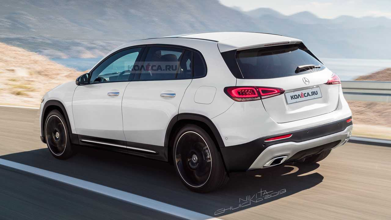 new mercedes gla rendering previews the jacked