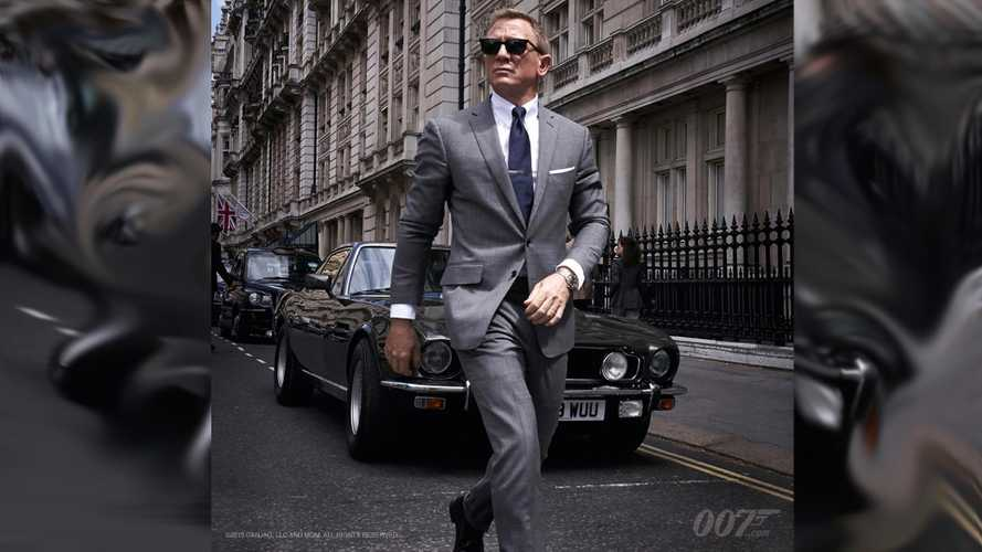 James Bond shows off his suave Aston Martin V8 Vantage