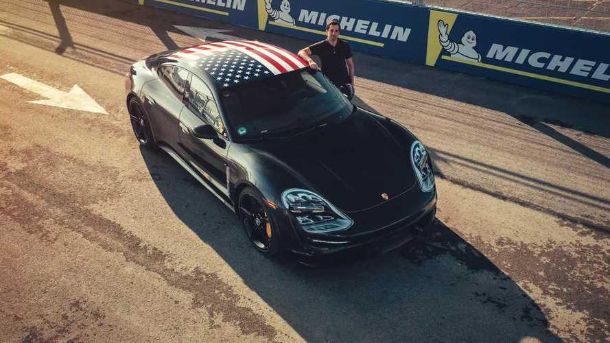La Porsche Taycan en démonstration à New York