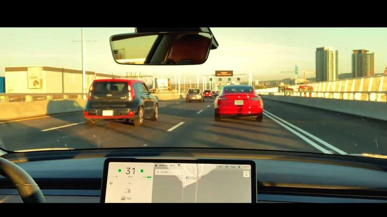 tesla model 3 driving 2