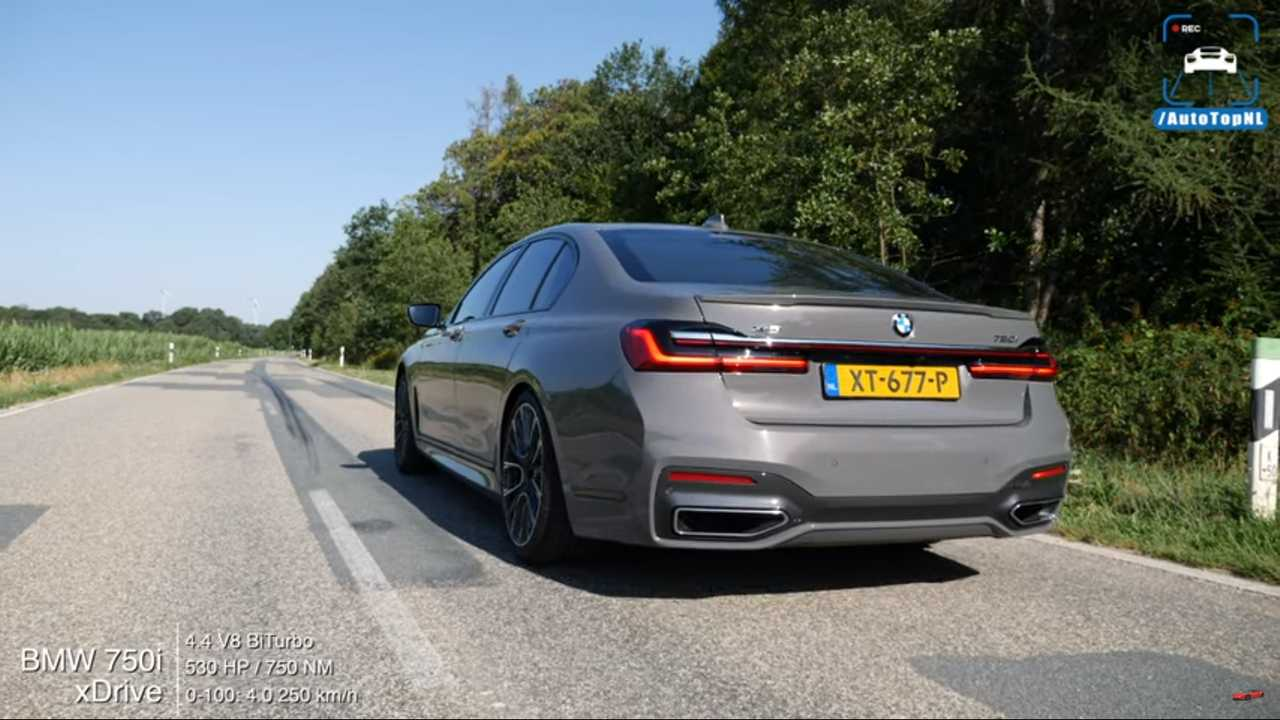 See 2020 Bmw 750i Xdrive Blast To 162 Mph In Just 26 Seconds