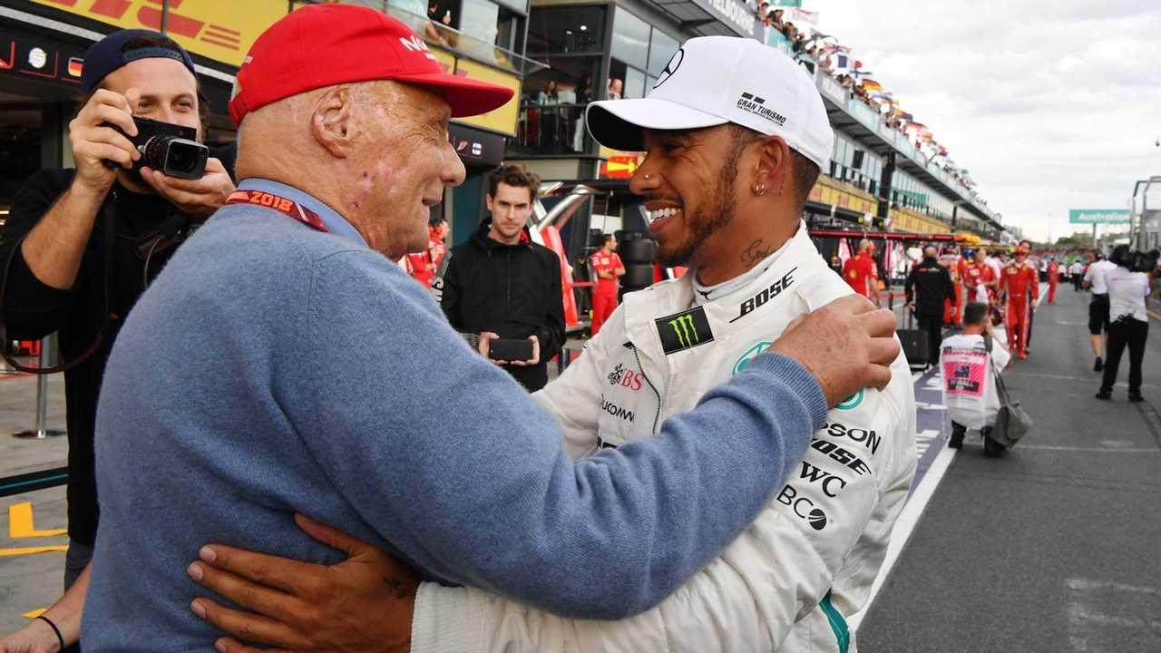 Lewis Hamilton with Niki Lauda at Australian GP 2018