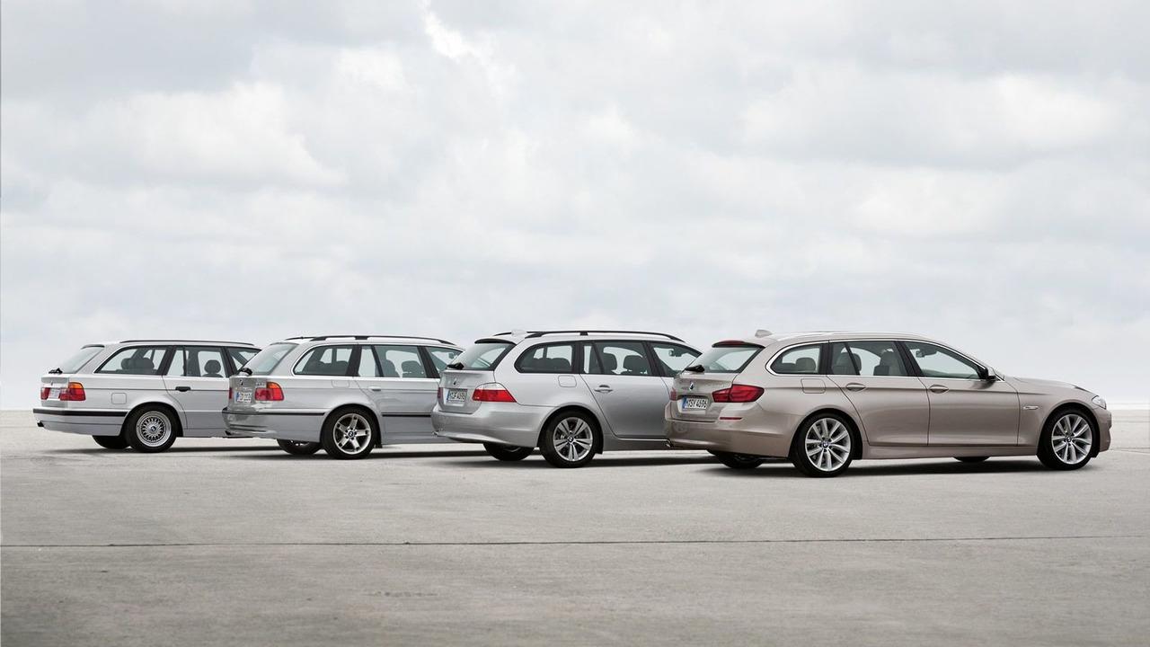BMW 5 Series Touring - 4 generations