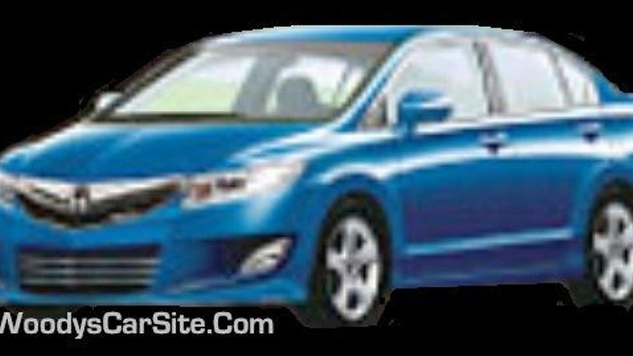 Next generation Honda Civic sedan image surfaces?