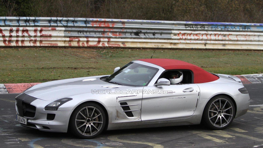 2012 Mercedes Benz SLS AMG Roadster spied undisguised