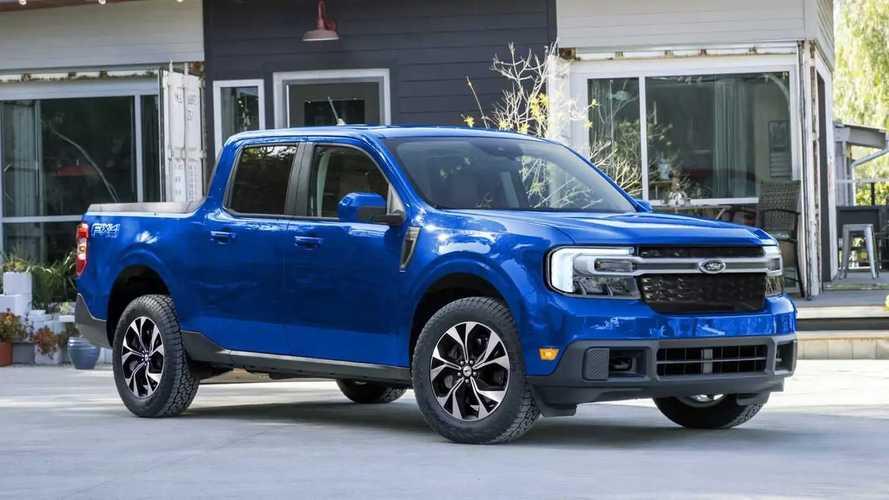 Picape Ford Maverick elétrica tem visual sugerido em projeção