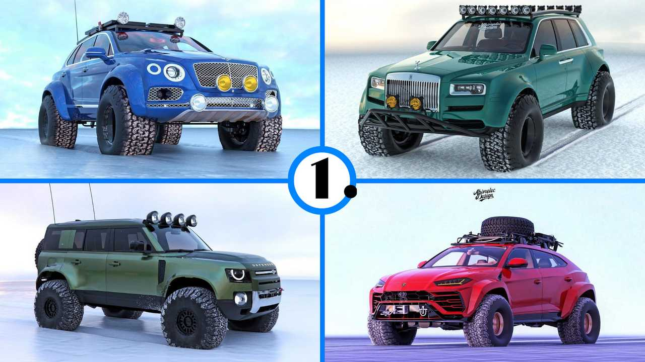 Unofficial Arctic Expedition SUVs renderings.