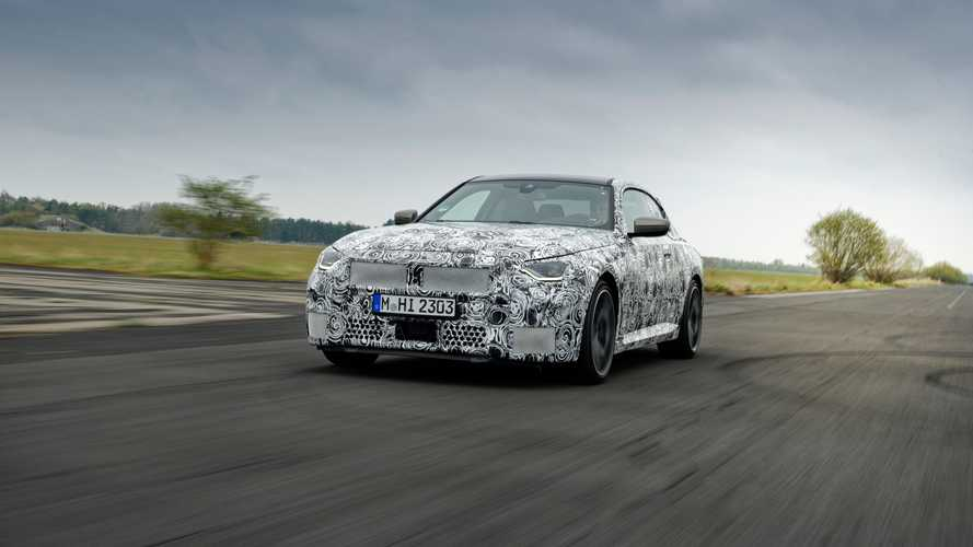 2022 BMW 2 Series Coupe camouflaged prototype teasers