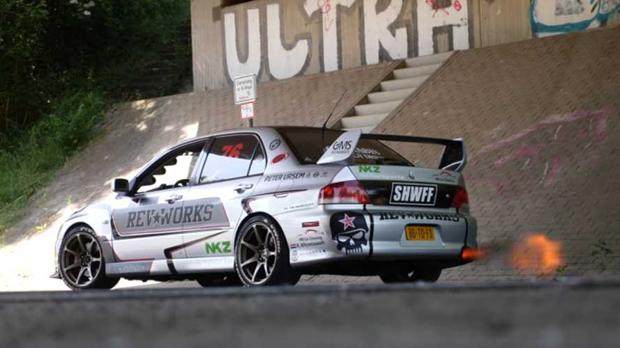 Flame-Spitting Mitsubishi Evo With 706 HP Is Insanely Quick