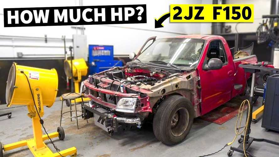 Ford Frightening Hits The Dyno As 2JZ-Swapped F-150