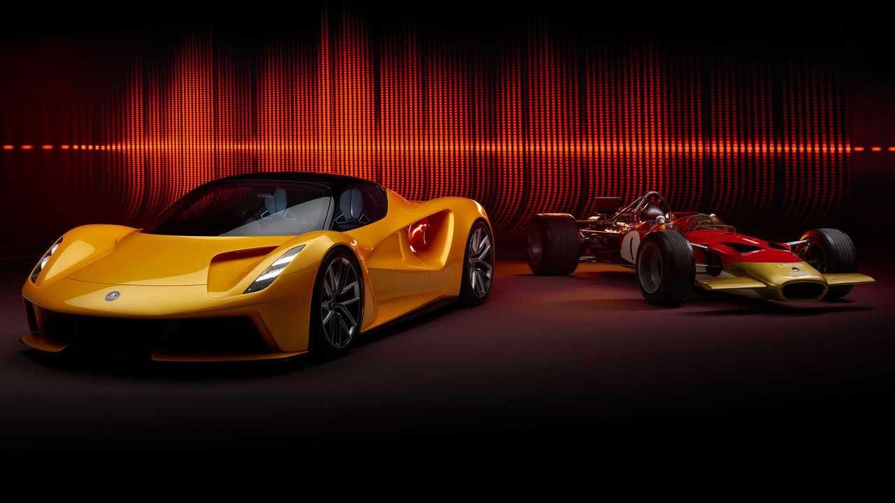 Der elektrisch angetriebene Lotus Evija hat einen Sound, der vom Lotus 49 inspiriert ist