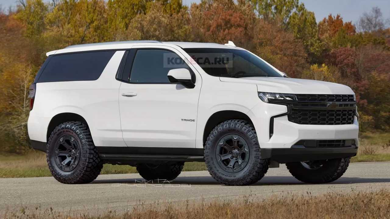 Chevrolet used to make a two-door Tahoe, and this rendering shows how a new one might look.