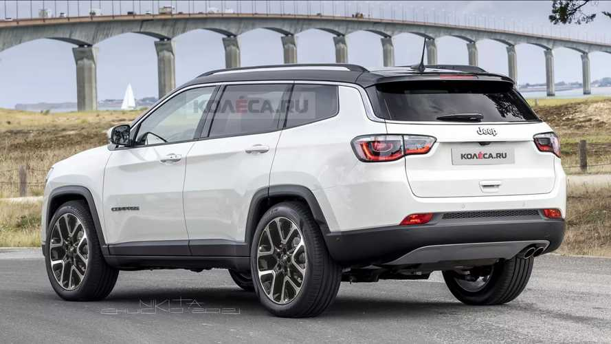 Seven-Seat Jeep Compass Renderings