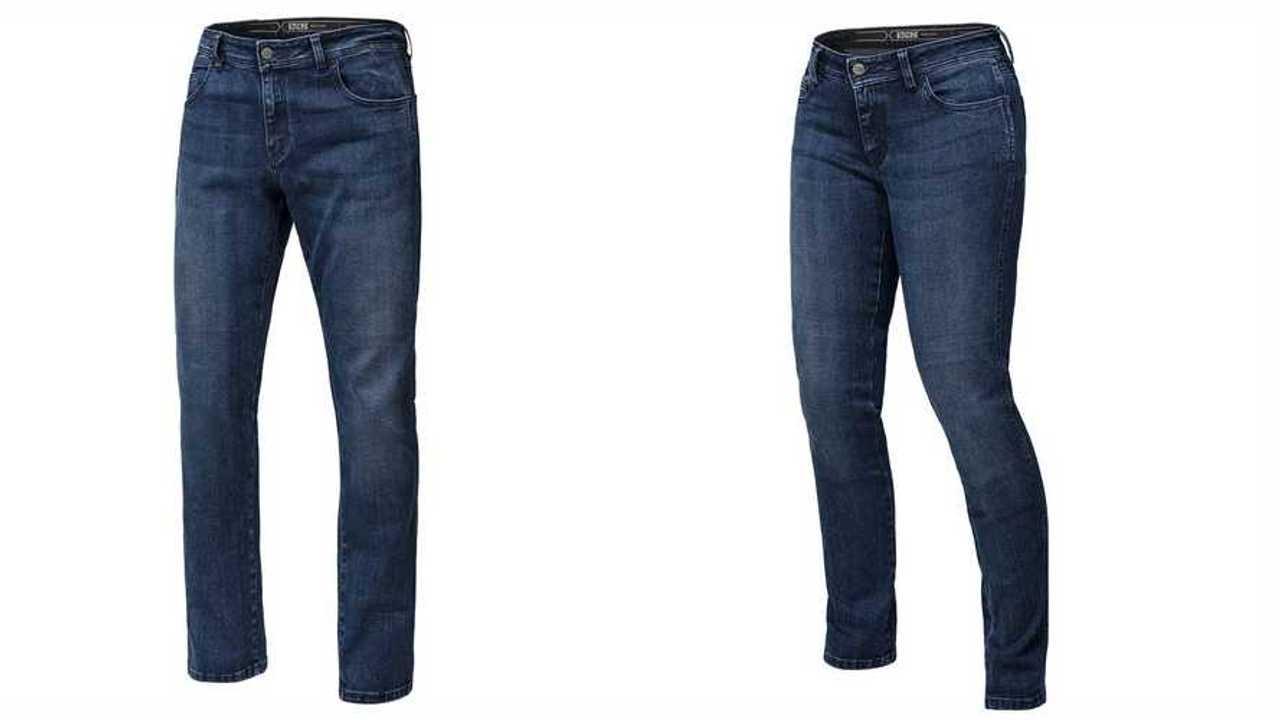IXS men's and women's Classic AR 1L jeans (front profile).