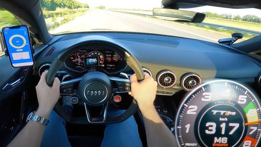 Bu Audi TT RS'in hızlanma videosu, sabahınıza neşe katacak