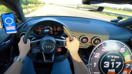 Audi TT RS with 616 bhp sounds heavenly in Autobahn top speed run